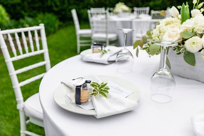 Table Setting from a Little Lamb Inspired Baptism Party on Kara's Party Ideas | KarasPartyIdeas.com (7)