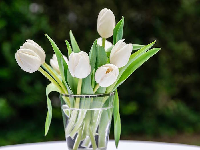 White Tulip Arrangement from a Little Lamb Inspired Baptism Party on Kara's Party Ideas | KarasPartyIdeas.com (29)