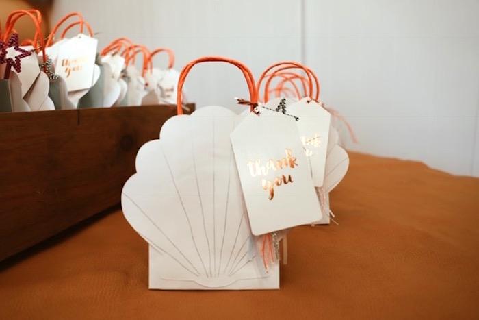 Seashell Favor Bags from a Mermaid Kisses Birthday Party on Kara's Party Ideas   KarasPartyIdeas.com (11)