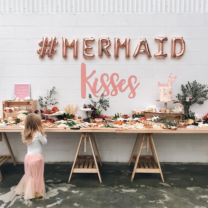 Mermaid Kisses Birthday Party on Kara's Party Ideas   KarasPartyIdeas.com (9)
