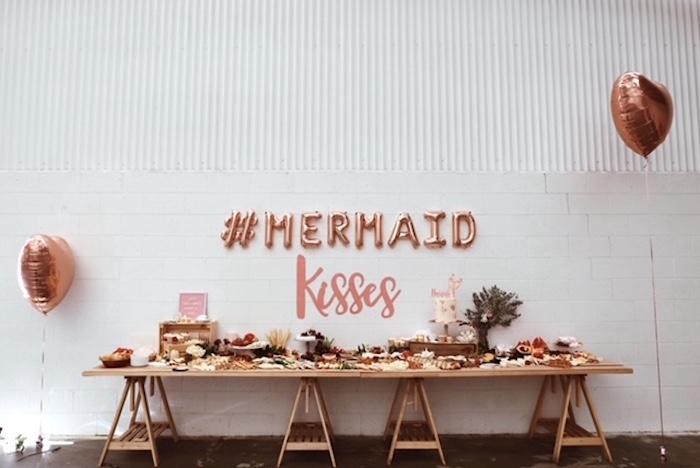 Mermaid Party Table from a Mermaid Kisses Birthday Party on Kara's Party Ideas   KarasPartyIdeas.com (19)
