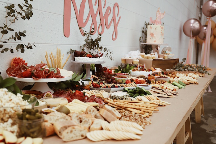 Charcuterie Spread + Party Table from a Mermaid Kisses Birthday Party on Kara's Party Ideas   KarasPartyIdeas.com (16)