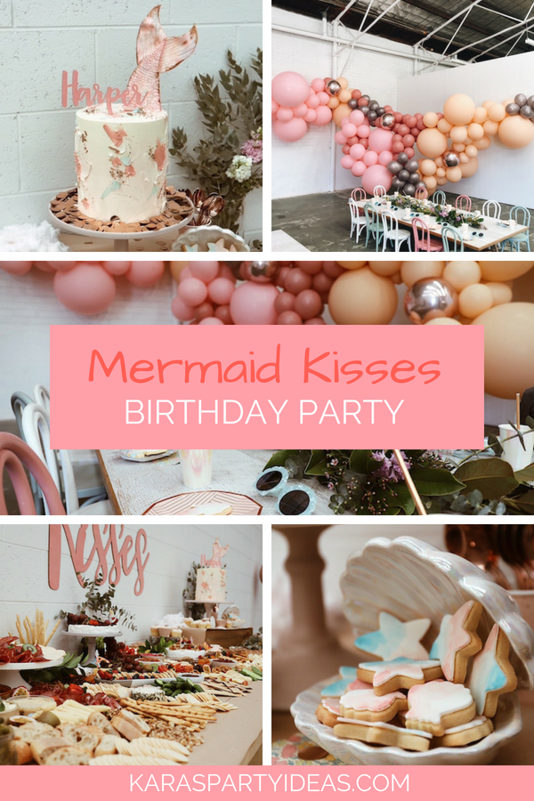 Mermaid Kisses Birthday Party via Kara's Party Ideas - KarasPartyIdeas.com