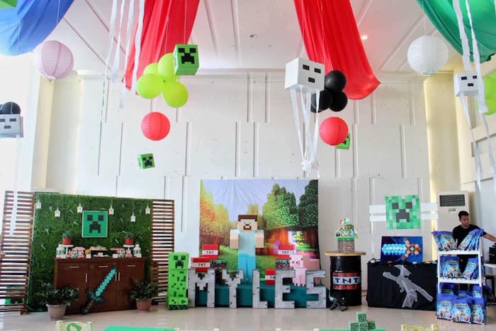 Minecraft Birthday Party on Kara's Party Ideas | KarasPartyIdeas.com (16)