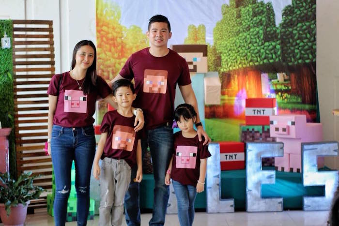 Minecraft Character Shirts from a Minecraft Birthday Party on Kara's Party Ideas | KarasPartyIdeas.com (7)