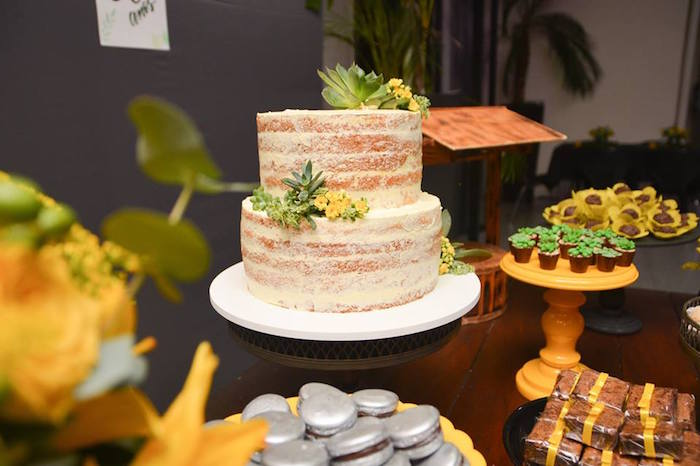 "Naked Cake from O Menino e o Poço ""The Boy and the Well"" 60th Birthday Party on Kara's Party Ideas   KarasPartyIdeas.com (10)"