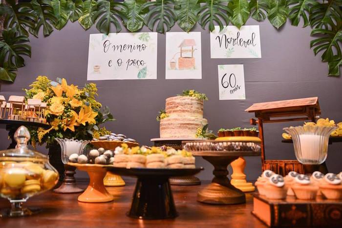 "Sweet Table from O Menino e o Poço ""The Boy and the Well"" 60th Birthday Party on Kara's Party Ideas   KarasPartyIdeas.com (33)"