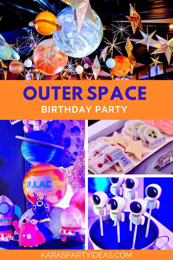 Outer Space Birthday Party via Kara_s Party Ideas - KarasPartyIdeas.com