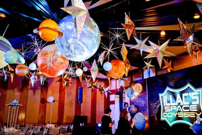 Star & Planet Ceilingscape from an Outer Space Birthday Party on Kara's Party Ideas | KarasPartyIdeas.com (22)