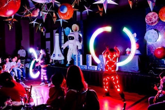 Glow Show from an Outer Space Birthday Party on Kara's Party Ideas | KarasPartyIdeas.com (21)