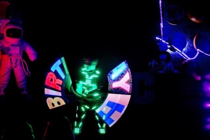 Glow Show from an Outer Space Birthday Party on Kara's Party Ideas | KarasPartyIdeas.com (20)