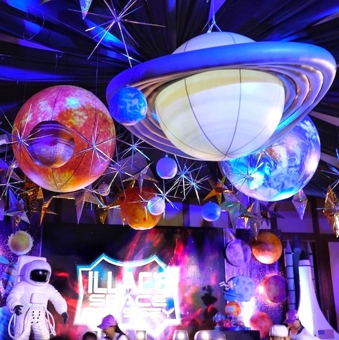 Planet Ceilingscape from an Outer Space Birthday Party on Kara's Party Ideas | KarasPartyIdeas.com (15)