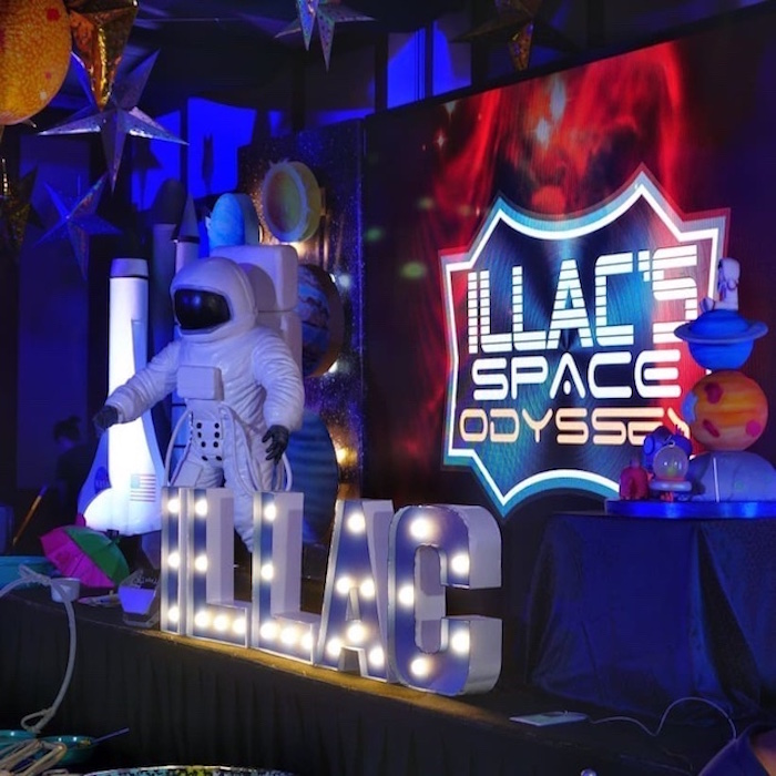 Space Stage from an Outer Space Birthday Party on Kara's Party Ideas | KarasPartyIdeas.com (29)