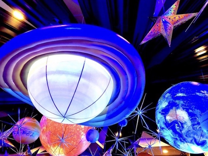 Stars + Planets Ceilingscape from an Outer Space Birthday Party on Kara's Party Ideas | KarasPartyIdeas.com (23)