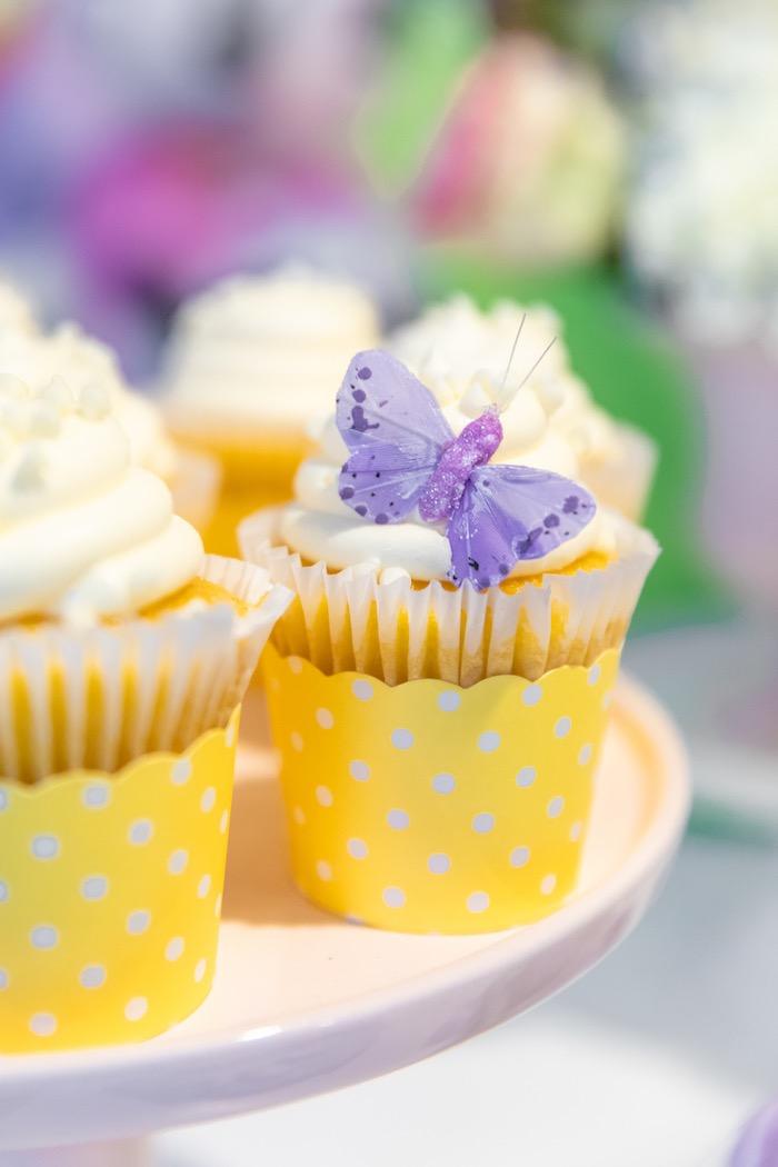 Daisy Duck Cupcakes from a Pastel Minnie Mouse & Daisy Duck Party on Kara's Party Ideas | KarasPartyIdeas.com (25)