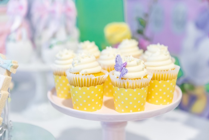 Daisy Duck-inspired Cupcakes from a Pastel Minnie Mouse & Daisy Duck Party on Kara's Party Ideas | KarasPartyIdeas.com (23)