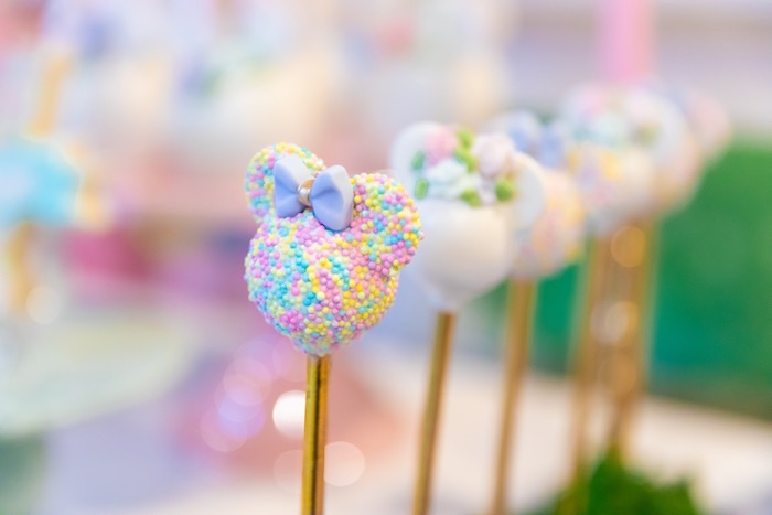 Minnie Mouse Cake Pops from a Pastel Minnie Mouse & Daisy Duck Party on Kara's Party Ideas | KarasPartyIdeas.com (19)