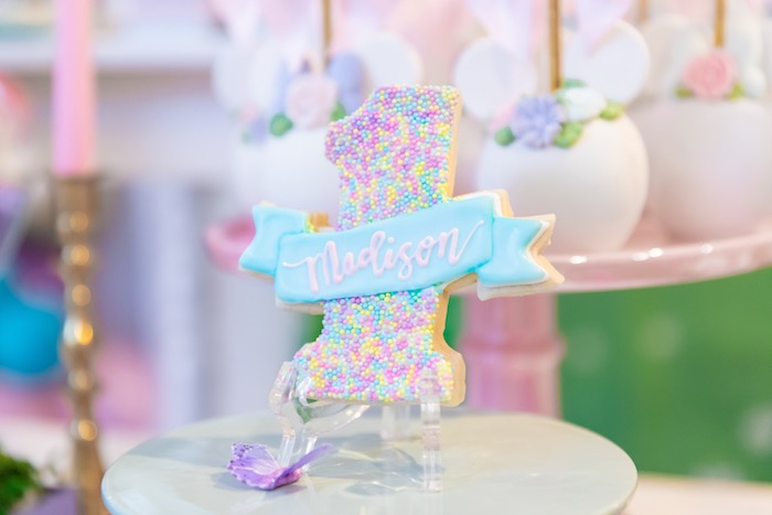Confetti Sprinkle Cookie From A Pastel Minnie Mouse Daisy Duck Party On Karas Ideas