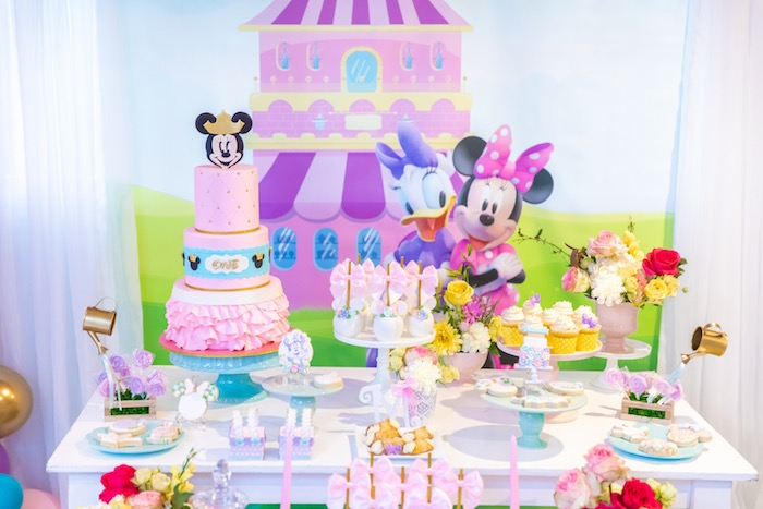 Excellent Karas Party Ideas Pastel Minnie Mouse Daisy Duck Party Karas Personalised Birthday Cards Paralily Jamesorg