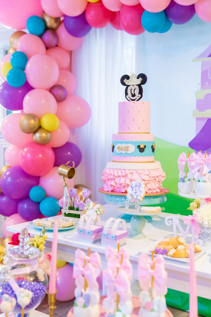 Magnificent Karas Party Ideas Pastel Minnie Mouse Daisy Duck Party Karas Personalised Birthday Cards Paralily Jamesorg