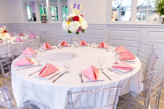 Minnie Mouse-inspired Guest Table from a Pastel Minnie Mouse & Daisy Duck Party on Kara's Party Ideas | KarasPartyIdeas.com (40)