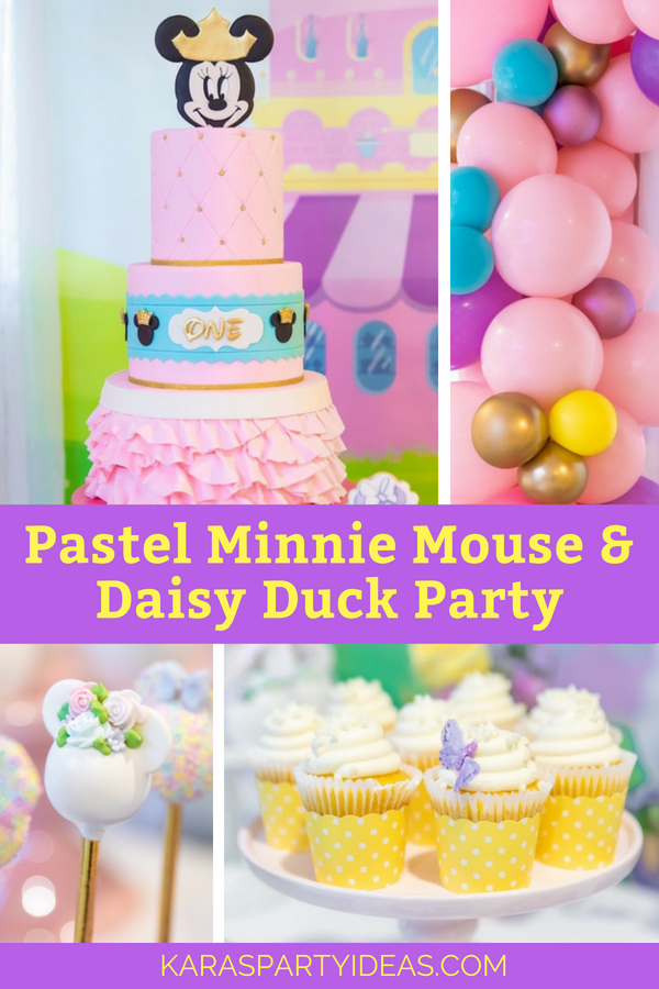 Strange Karas Party Ideas Pastel Minnie Mouse Daisy Duck Party Karas Personalised Birthday Cards Paralily Jamesorg