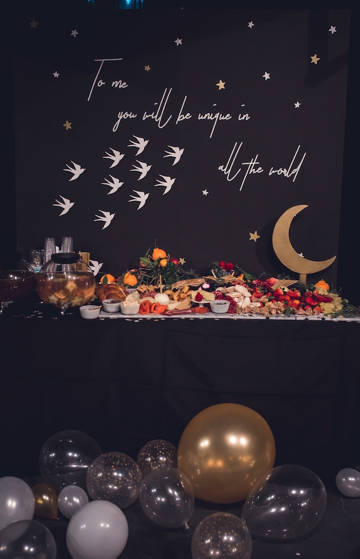 Little Prince Charcuterie Party Table from a Petit Prince Baby Shower on Kara's Party Ideas | KarasPartyIdeas.com (9)