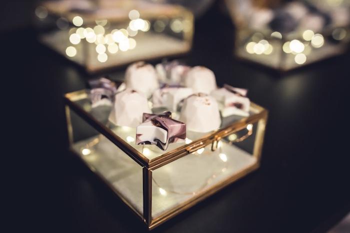 Moon & Star Chocolates from a Petit Prince Baby Shower on Kara's Party Ideas   KarasPartyIdeas.com (13)