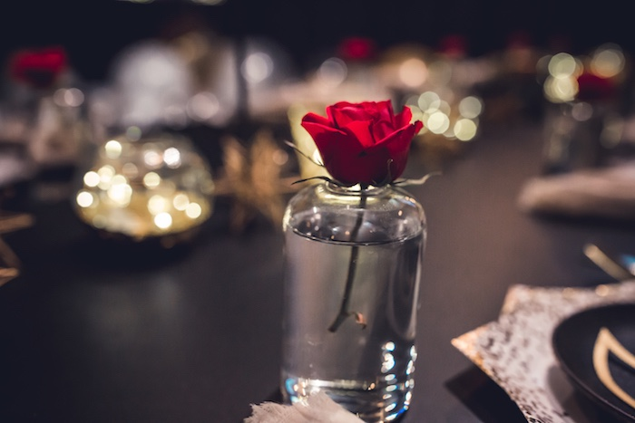 Single Rose Centerpiece from a Petit Prince Baby Shower on Kara's Party Ideas | KarasPartyIdeas.com (12)