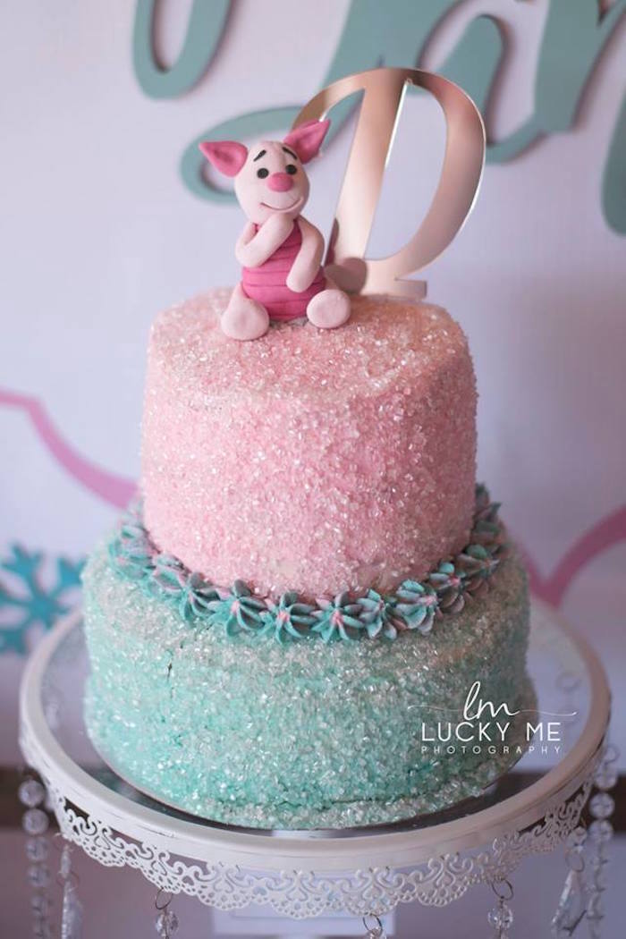 Piglet-inspired Birthday Cake from a Pink Piglet Birthday Party on Kara's Party Ideas | KarasPartyIdeas.com (11)