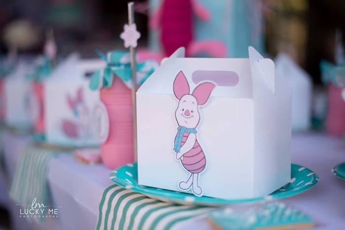 Piglet Gable Lunch Box from a Pink Piglet Birthday Party on Kara's Party Ideas | KarasPartyIdeas.com (9)