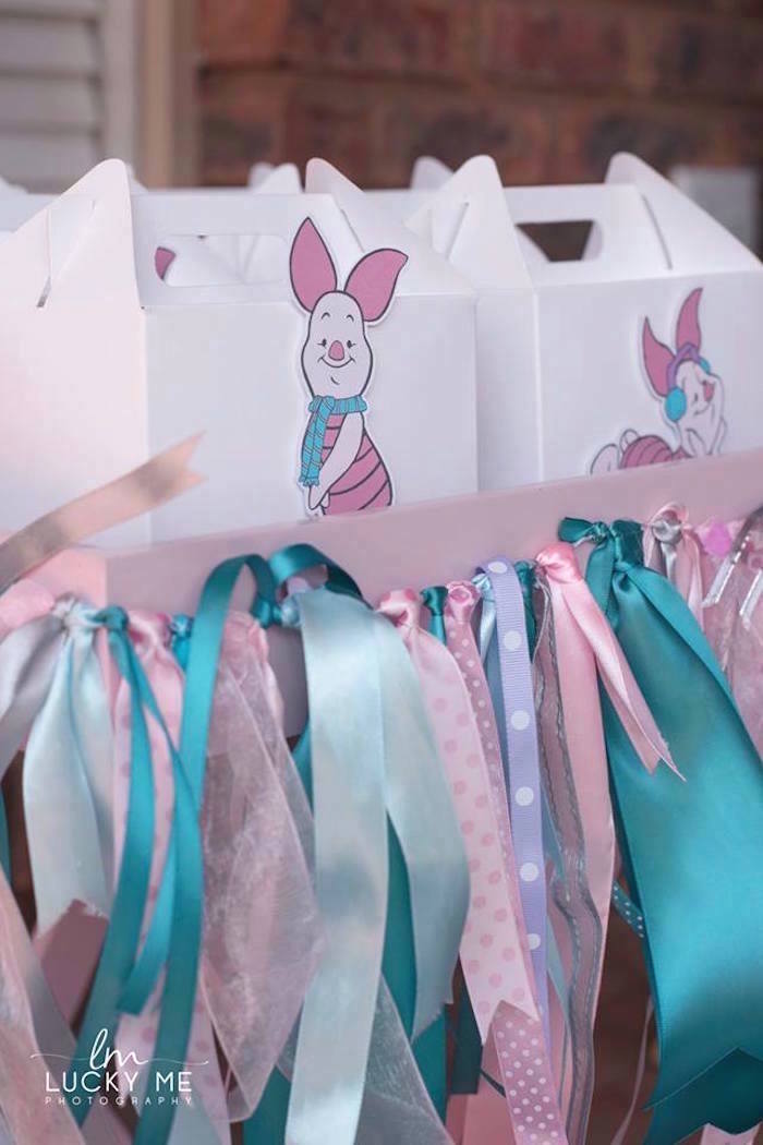 Piglet Gable Favor Boxes from a Pink Piglet Birthday Party on Kara's Party Ideas | KarasPartyIdeas.com (8)