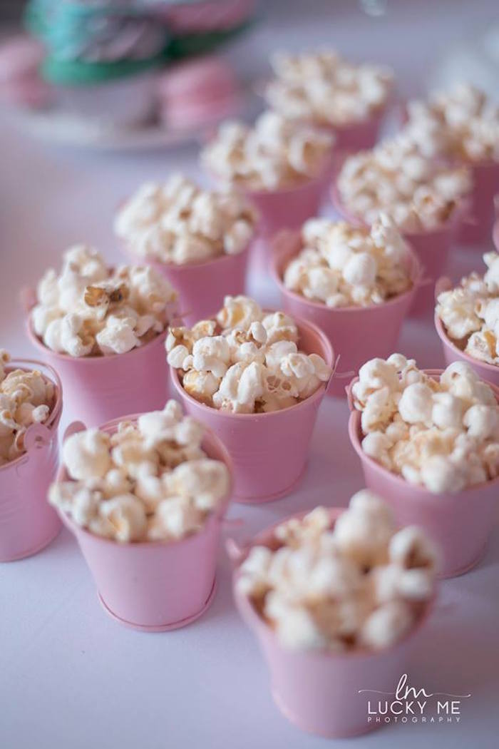 Pink Popcorn Buckets from a Pink Piglet Birthday Party on Kara's Party Ideas | KarasPartyIdeas.com (3)