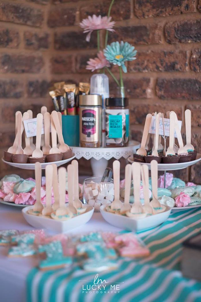 Sweet Table from a Pink Piglet Birthday Party on Kara's Party Ideas | KarasPartyIdeas.com (26)
