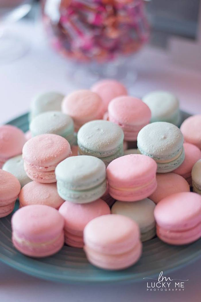 Macarons from a Pink Piglet Birthday Party on Kara's Party Ideas | KarasPartyIdeas.com (22)