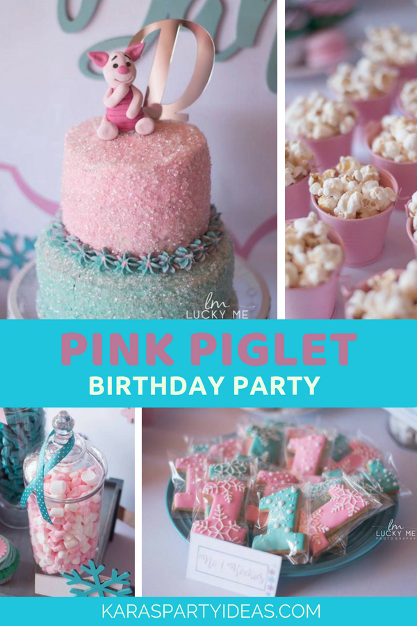 Pink Piglet Birthday Party via Kara's Party Ideas - KarasPartyIdeas.com