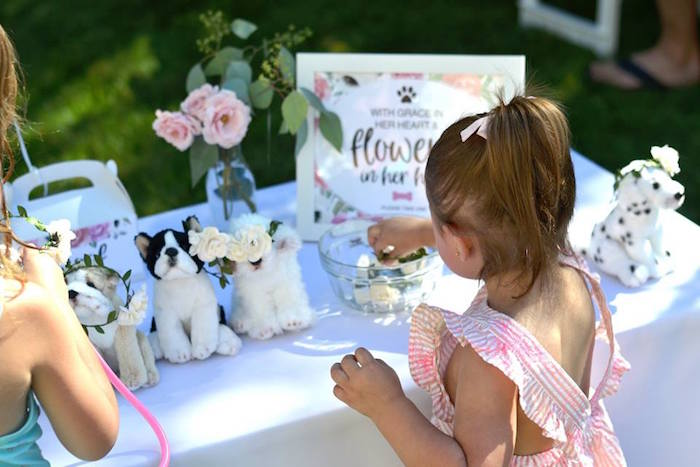 Pink Puppy 2nd Birthday Party on Kara's Party Ideas | KarasPartyIdeas.com (11)