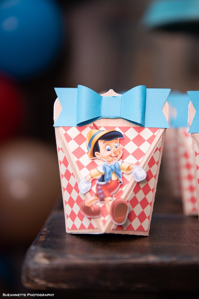 Pinocchio Favor Boxe from a Pinocchio Birthday Party on Kara's Party Ideas | KarasPartyIdeas.com (29)