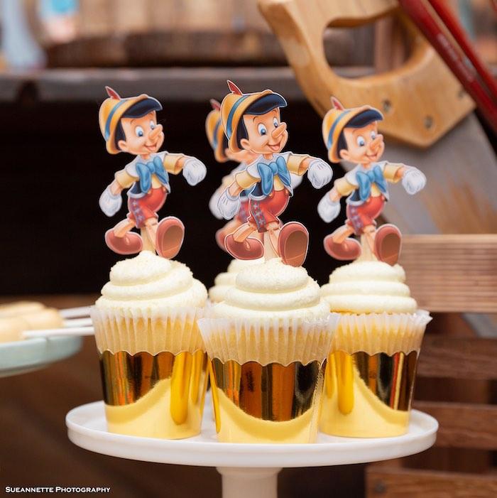 Pinocchio Cupcakes from a Pinocchio Birthday Party on Kara's Party Ideas | KarasPartyIdeas.com (11)