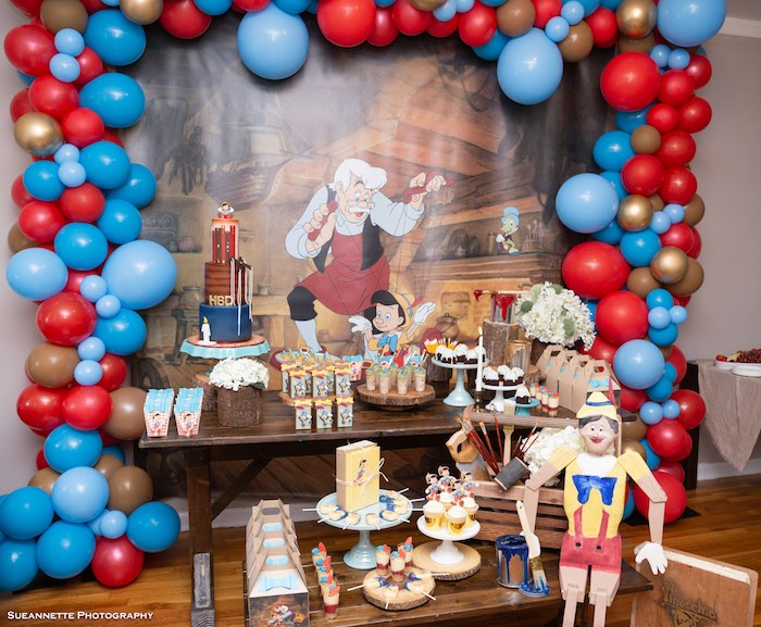 Pinocchio Birthday Party on Kara's Party Ideas | KarasPartyIdeas.com (6)