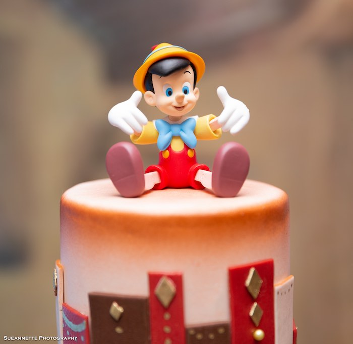 Pinocchio Cake Top from a Pinocchio Birthday Party on Kara's Party Ideas | KarasPartyIdeas.com (5)