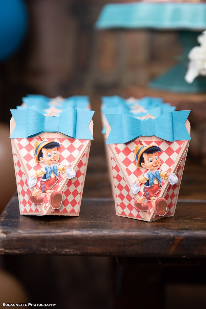 Pinocchio Favor Boxes from a Pinocchio Birthday Party on Kara's Party Ideas | KarasPartyIdeas.com (28)