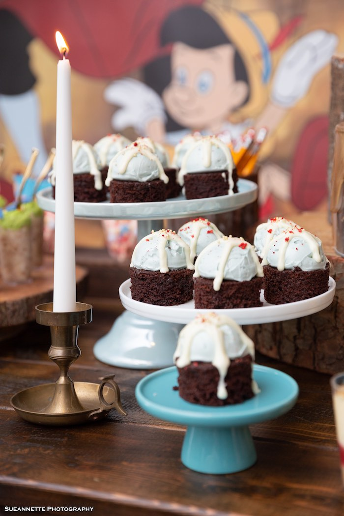 Brownies from a Pinocchio Birthday Party on Kara's Party Ideas | KarasPartyIdeas.com (21)