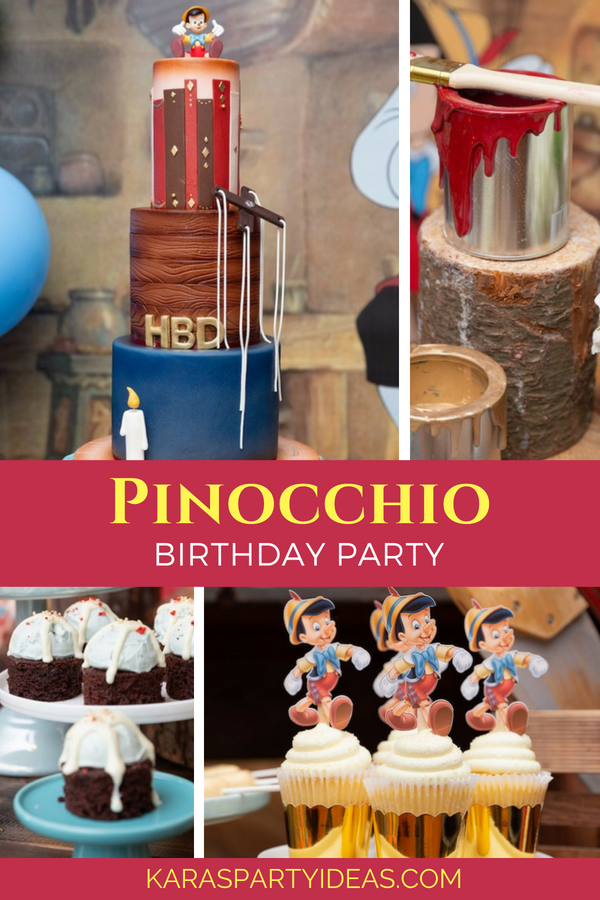Pinocchio Birthday Party via Kara's Party Ideas - KarasPartyIdeas.com