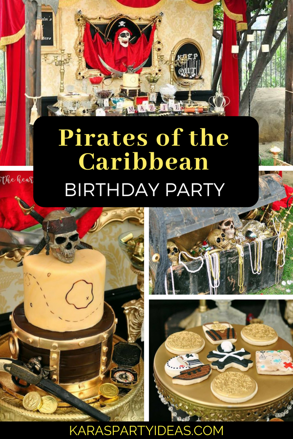 Awesome Karas Party Ideas Pirates Of The Caribbean Birthday Party Funny Birthday Cards Online Aeocydamsfinfo