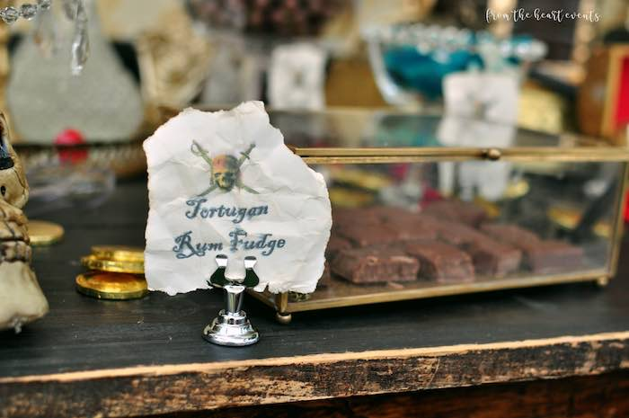 Tortugan Rum Fudge from a Pirates of the Caribbean Birthday Party on Kara's Party Ideas | KarasPartyIdeas.com (32)