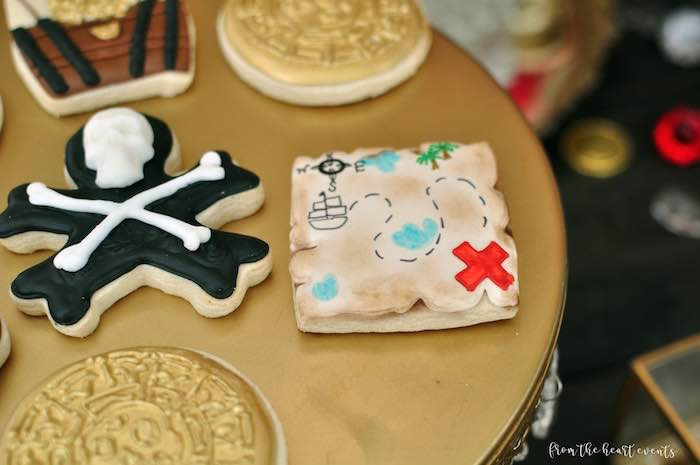 Pirate-inspired Cookies from a Pirates of the Caribbean Birthday Party on Kara's Party Ideas | KarasPartyIdeas.com (29)