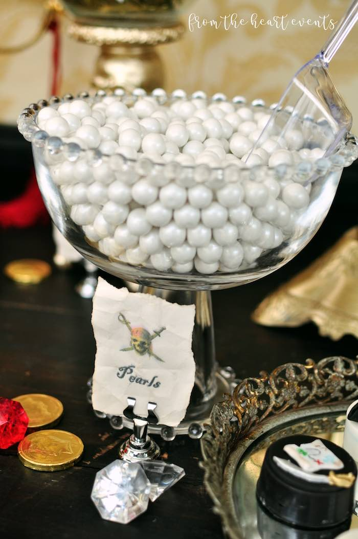 Pearls from a Pirates of the Caribbean Birthday Party on Kara's Party Ideas | KarasPartyIdeas.com (23)