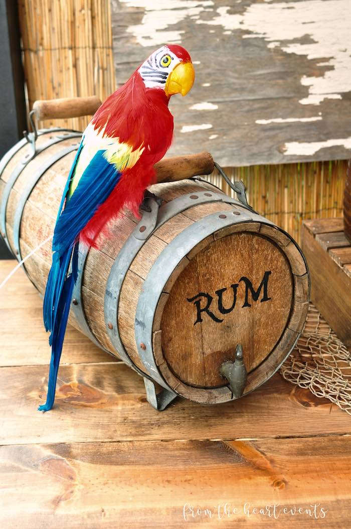 Rum Barrel from a Pirates of the Caribbean Birthday Party on Kara's Party Ideas | KarasPartyIdeas.com (16)