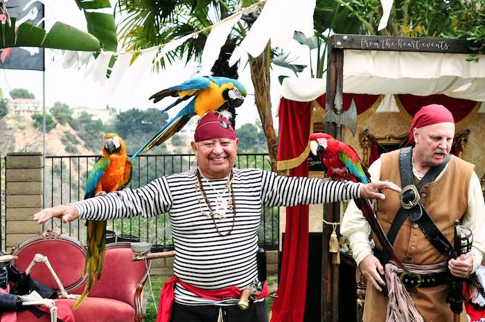 Parrot Show from a Pirates of the Caribbean Birthday Party on Kara's Party Ideas | KarasPartyIdeas.com (10)